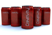 Creativity soda — Stock Photo