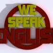 We speak english — Stock Photo