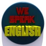 We speak english — Stock Photo #21160715