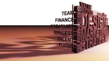 Pazarlama ve işletme kavramları — Stok video