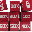 Discount cubes — Stock Photo
