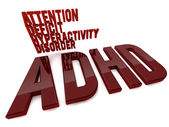 ADHD attention deficit hyperactivity disorder — Stock Photo