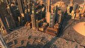 Futurystyczne miasto — Zdjęcie stockowe