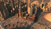 Cidade futurista — Foto Stock