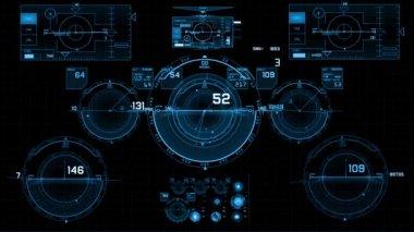 Hud futurista — Vídeo de Stock