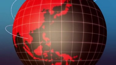 Planet globe — Stock Video