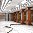 Stock Photo: Futuristic corridor