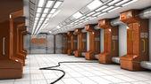 футуристический коридор — Стоковое фото