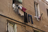 Laundry hanging out — Stock Photo