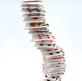 Poker cards falling — Stock Photo