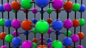 Colored science spheres — Foto de Stock