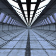 Stock Photo: Futuristic interior corridor