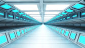 Futuristic interior corridor — Stock Photo