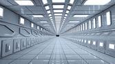 Futuristic corridor — Stock Photo