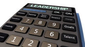 Liderlik hesap makinesi — Stok fotoğraf