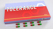Tolerance medication — Stock Photo