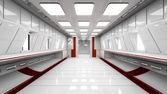 Scifi футуристический коридор — Стоковое фото