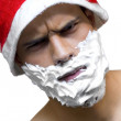 Santa Claus angry - Stock Photo