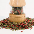 Stock Photo: Mixed pepper with peppermill