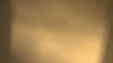 部屋の壁に降り注ぐ太陽の光 — ストックビデオ