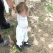 Baby boy learning to walk — Stock Video