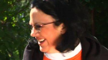 Senior woman smiling — Stock Video