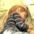 Four year old boy sleeping — Stock Video