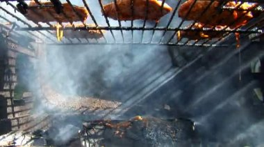 Barbecue cooked outdoors, close-up — Stock Video
