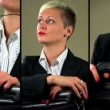 Sexy businesswoman flirting with camera — Stock Video