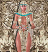 Egyptian High Priestess. Also suitable for use as an artistic version of Cleopatra, Nefertiti or Hatshepsut. — Foto de Stock