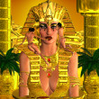 Face Of The Pharaoh Queen — Stock Photo