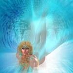 Постер, плакат: Underwater Ocean Goddess