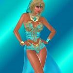 Постер, плакат: Ocean Goddess Staring