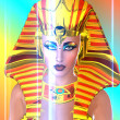 Abstract close up face of conceptual Cleopatra — Stock Photo