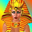 Ancient Egyptian Pharaoh Queen on abstract background — Stock Photo