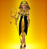 Defiant Pharaoh Queen walking — Stock Photo