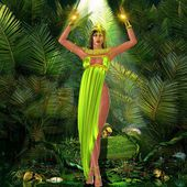 Earth Goddess in forest — Stock Photo