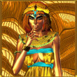 Egypt On Her Mind. This portrait depicts an ancient Egyptian queen deep in thought. — Stock Photo