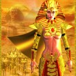 Egyptian Warrior Queen — Stock Photo