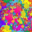 Abstract background resembling wet splattered paint pattern in the colors of art. — Stock Photo