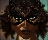 Masquerade mask with feathers. — Stock Photo