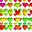 Heart set, isolated on white. Colorful hearts for Valentine's day or love themed content. — Stock Photo