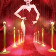 Постер, плакат: Blonde bombshell on the red carpet