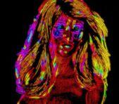 Neon Blonde Punk — Stock Photo