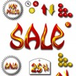 Vector set of sale icons — Stock Vector #23739099