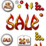Vector set di icone in vendita — Vettoriale Stock  #23739099