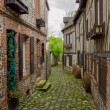 Old street, in Honfleur, France - Foto de Stock