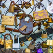Padlocks on Ponts des arts, Paris — Stock Photo #20751637