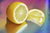 řezání citron — Stock fotografie