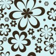 Brown flowers on a blue background - Imagen vectorial